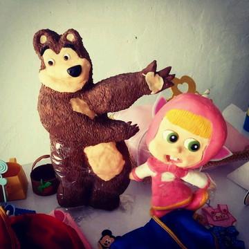 Masha e o urso em biscuit