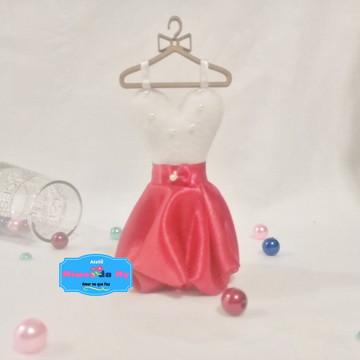 Vestidinhos cor do traje de madrinha com Cabide - Vermelho
