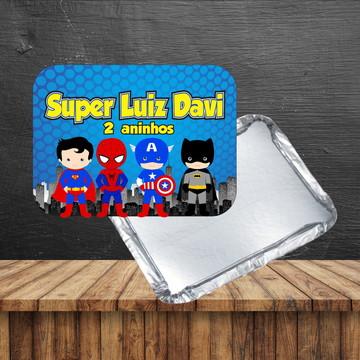Rotulo para marmita Super Man