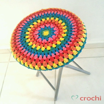 Capinha de crochê para banquetas - Colorful II