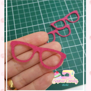 Recorte Óculos em feltro para aplique