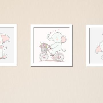 Kit quadrinhos elefantinhos