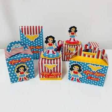 kit Personalizado Mulher Maravilha Cute 50 itens