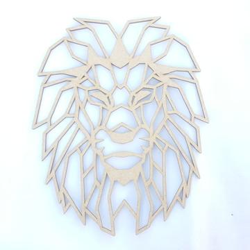 Decoração parede Leão geométrico