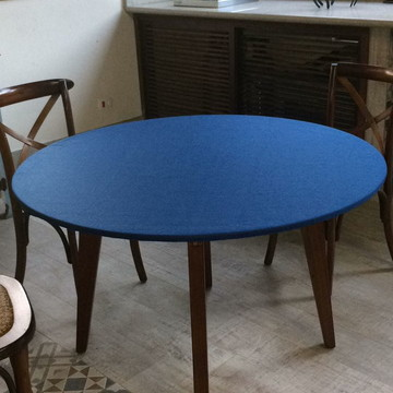 Toalha mesa redonda com elástico em feltro