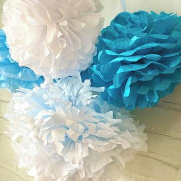 POMPONS Festa CORES e ESTAMPA Glam Blue