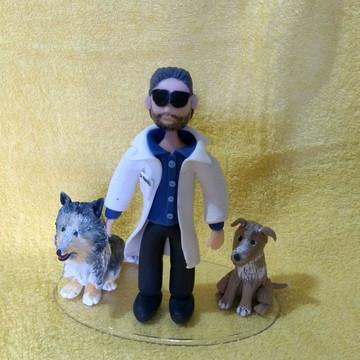 Médico e cachorros