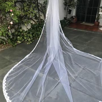 Véu de Noiva - Tule Francês com renda de Tule