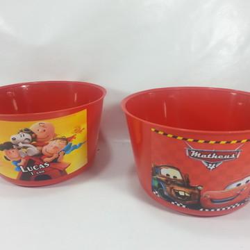 balde de pipoca - Personalizados