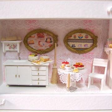 Quadro Cenário de Cozinha em Miniatura