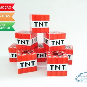 Caixa cubo TNT minecraft