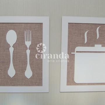 Kit 2 Quadros Cozinha - Valor Promocional