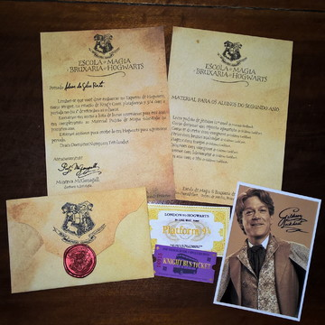 Carta De Hogwarts Segundo Ano Personalizada