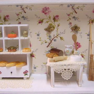 Quadro Cenário Cozinha em Miniatura