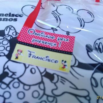 Kit Tela de Pintura Mickey e Minnie