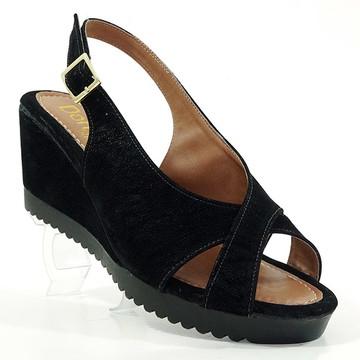 34636dfe6f Sandália Feminina Plataforma Doma Shoes Preto