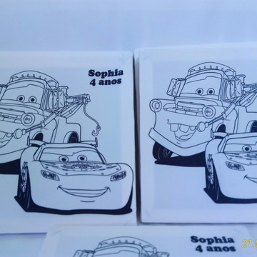 Tela de Pintura Personalizada Carros Disney