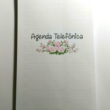 Miolo Impresso Agenda Telefonica - AI020 A5