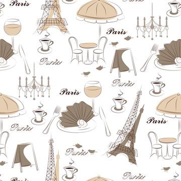 Papel de Parede Autocolante Café Em Paris