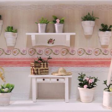 Quadro Cenário em Miniatura Jardim