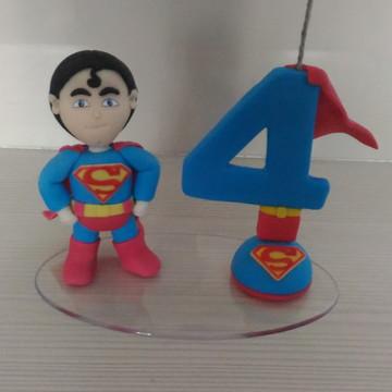 Topo de bolo em biscuit superman