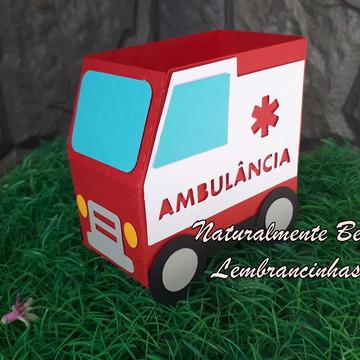 Caixa Porta Doces Ambulância