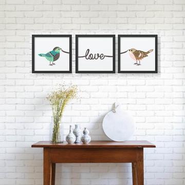 Kit de Quadros Love birds