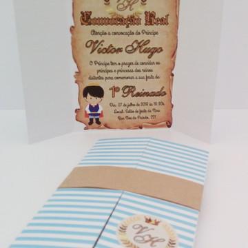Convite Infantil Príncipe ou Princesa