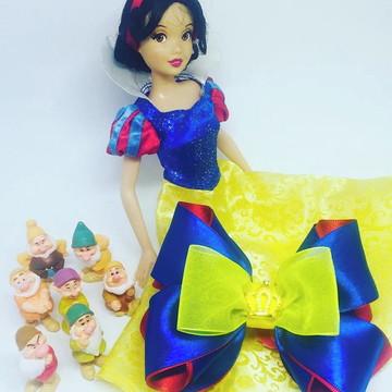Laço Princesa Branca de Neve