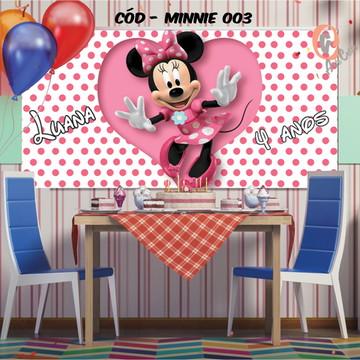 Painel festa decoração Minnie