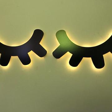 FRETE GRÁTIS - Cílios Luminoso em MDF LED