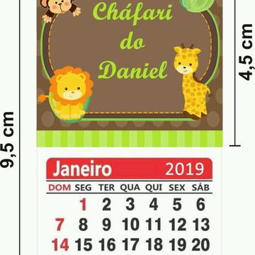 Imã de Geladeira com Calendário 2019