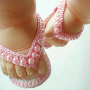 Sandália de crochê