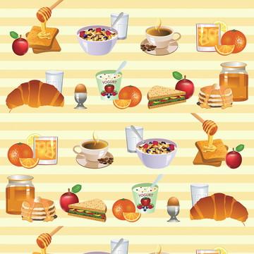 Papel de Parede Café da Manhã Breakfast Cozinha Autocolante