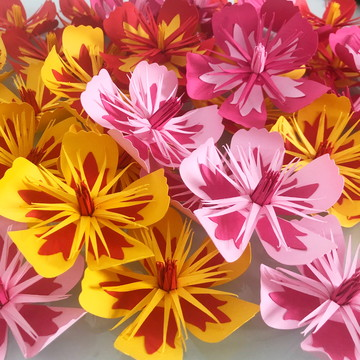 Mini flor de papel da Moana, flor de hibisco