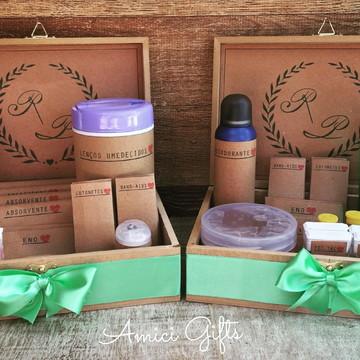 Embalagens kits toilette rústicos + caixas