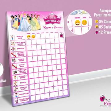 Quadro Incentivo Tema: Princesas