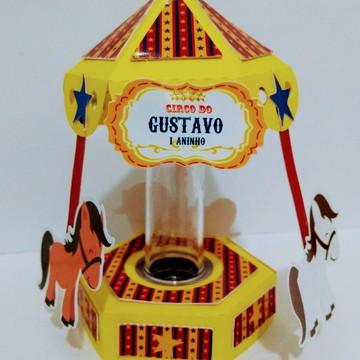 Porta Tubete Carrossel Circo - Todos os Temas