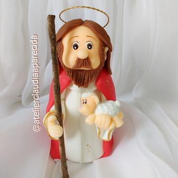 Jesus Bom Pastor 16 cm altura