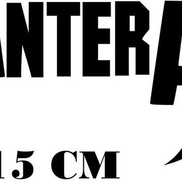 Adesivo Banda Pantera Heavy Metal Frete Grátis