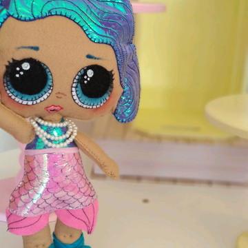 Locação kit 5 bonecas Lol surpresa feltro