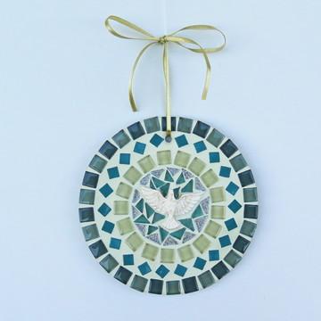 Mandala Divino em mosaico mini verde
