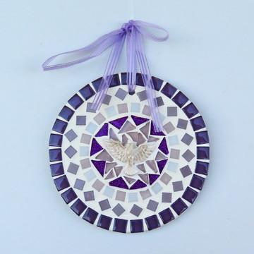 Mandala Divino em mosaico mini lilás