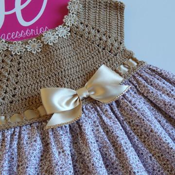Vestidinho de choche com tecido infantil