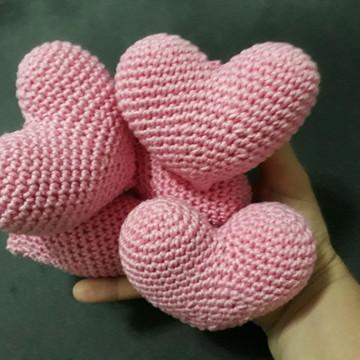 Coração amigurumi em croche