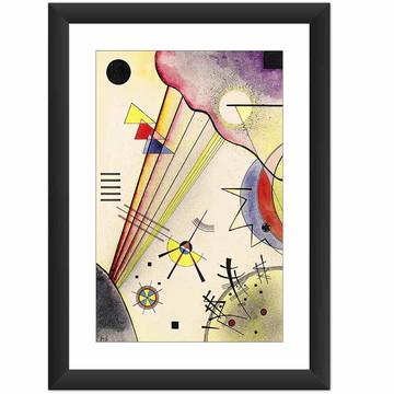 Quadro Kandinsky Figuras Geometricas Abstrata Arte Moderna