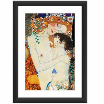 Quadro Gustav Klimt Mae E Filho Obras Famosa Decorar Sala