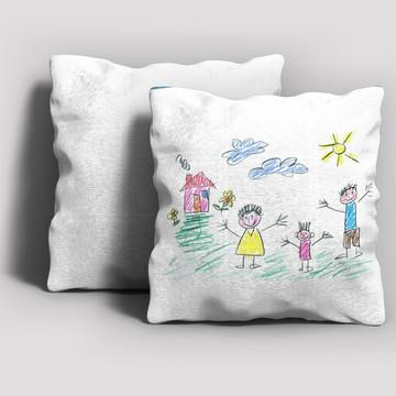 Dia dos Pais - Almofada com desenho do filho