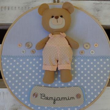 Enfeite de Porta Maternidade Menino Urso