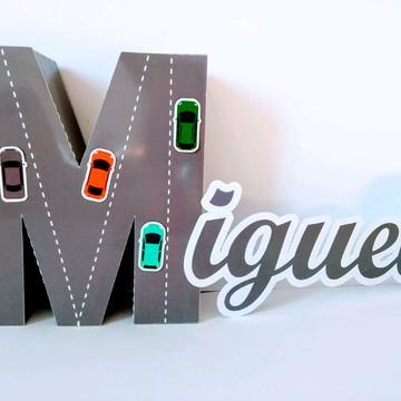 Letra 3D Personalizada todos os temas